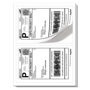 RC2) 400 Premium Rounded Corners Labels 8.5x5.5-0