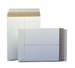 """100 - 11"""" X 13.5"""" Stayflats Plus White Mailers"""