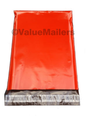 red poly mailer