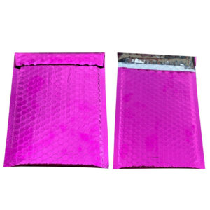 500 #000 Glamour Pink Metallic Bubble Mailers-0